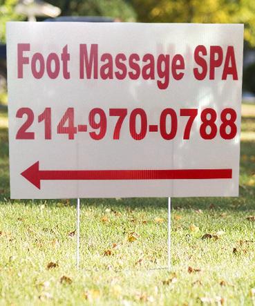 foot spa massage sign